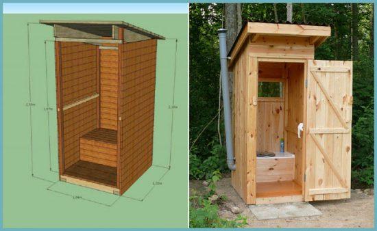 из чего можно построить туалет