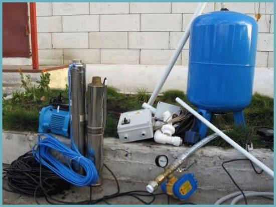 как подключить насос для скважины