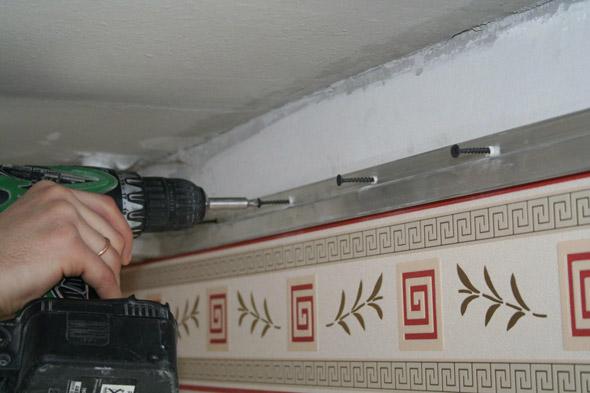натяжной потолок своими руками