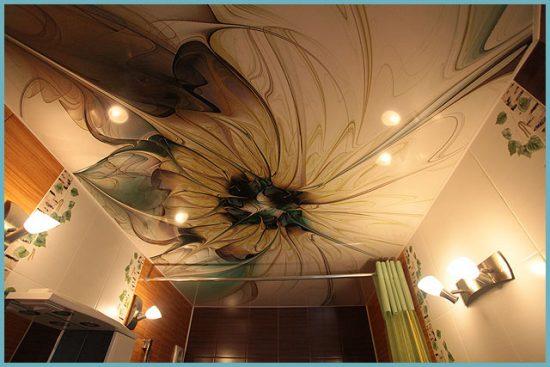 тканевый потолок для ванной
