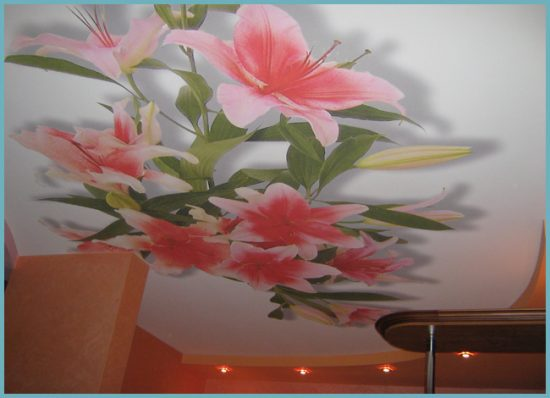 замена тканевого потолка