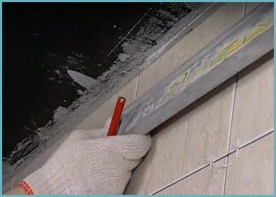 как сделать каркас для реечного потолка