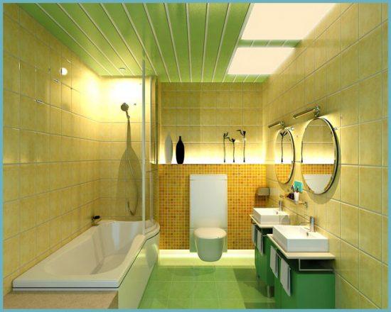 монтаж освещения в ванной