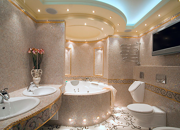 варианты освещения в ванной