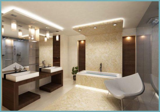 зонирование ванной светом