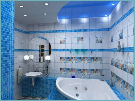 типы освещения в ванной комнате