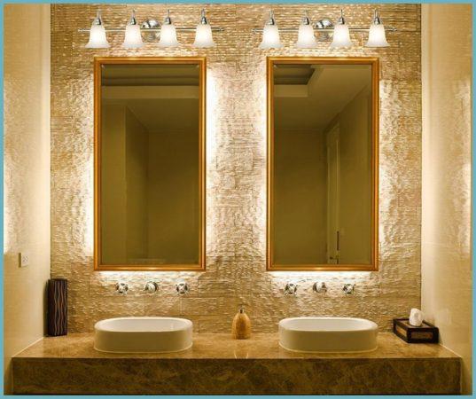 как подсветить зеркала в ванной