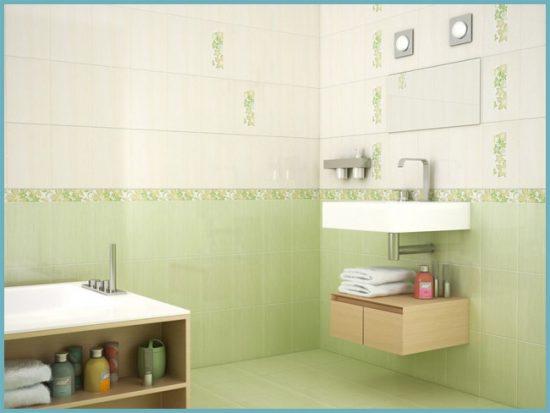 выбор плитки для ванной по цвету