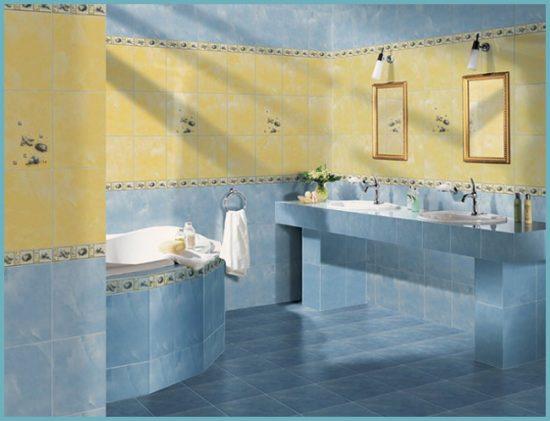 цвет плитки в дизайне ванной комнаты