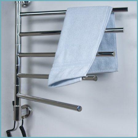 установка поворотного полотенцесушителя