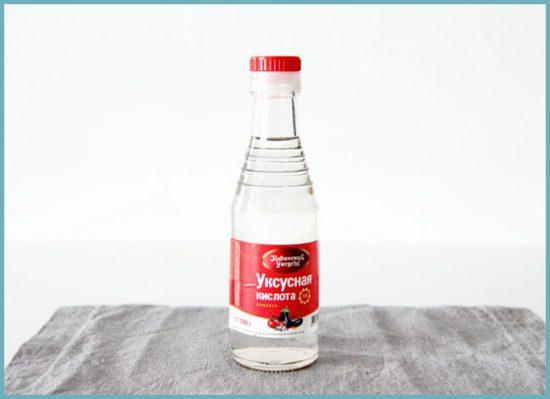чистка унитаза уксусной кислотой