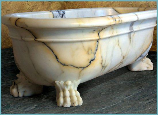 чистка мраморной ванны