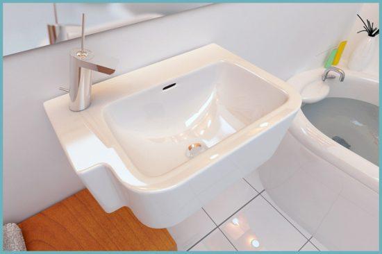 как установить раковину в туалете