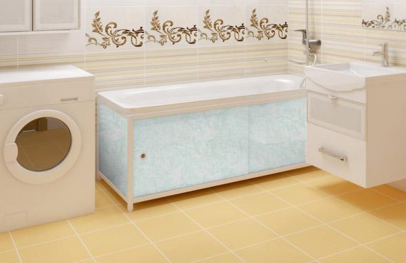 Панели под ванну раздвижные