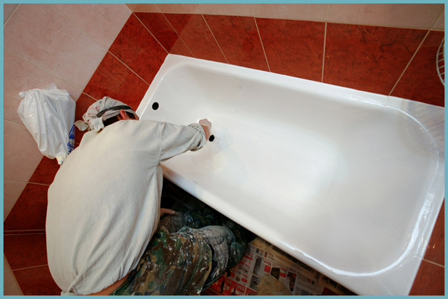 Реставрация чугунной ванны своими руками фото