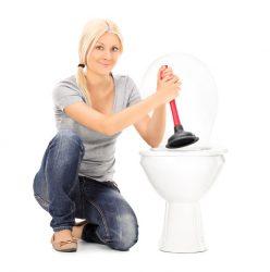 как прочистить засор унитаза