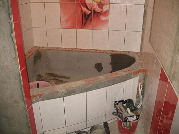 ванна из кирпича