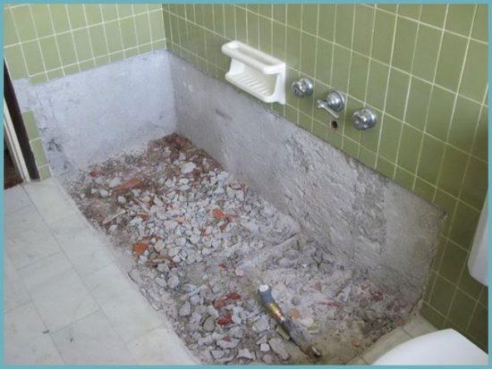 как построить ванну из кирпича