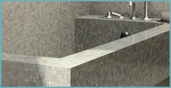 ванна из кирпича в интерьере ванной