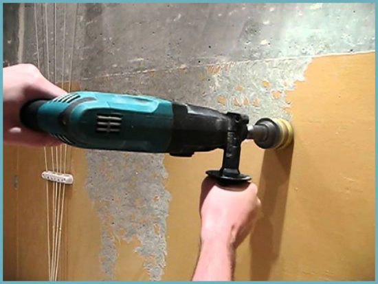как удалить краску дрелью