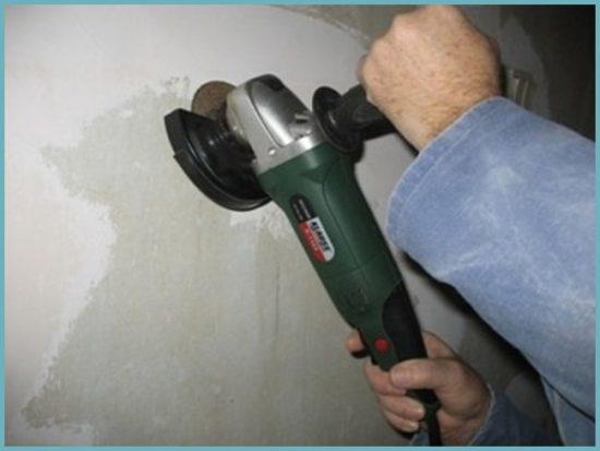 как удалить краску со стены