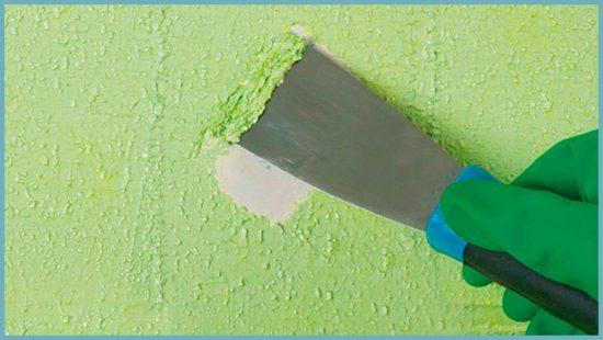 удаление краски растворителем