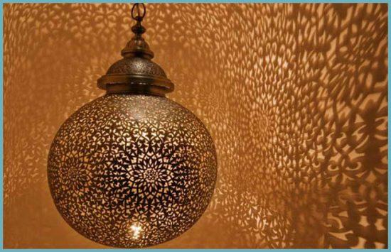 светильники в марокканском интерьере