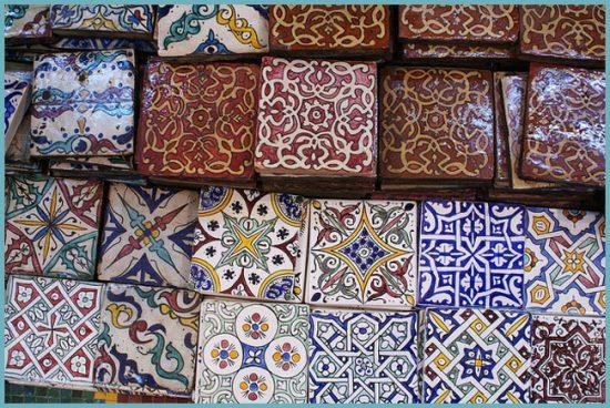 плитка в марокканском интерьере