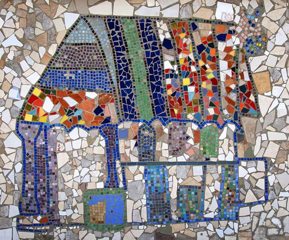 Мозаика из битой плитки своими руками