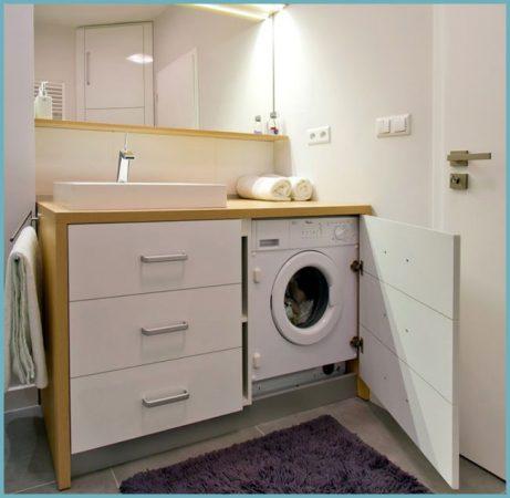 как установить стиральную машину в ванной