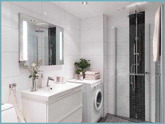 освещение в ванной в скандинавском стиле