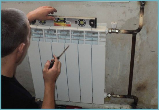 как поставить радиатор своими руками