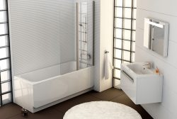 Интерьер ванной в стиле минимализм