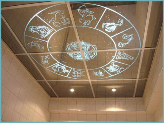 декор для потолка в ванной
