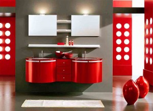 Red-bathroom-decorating