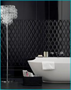 Ванная комната в черных тонах