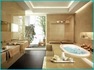 Дизайн желтой ванной комнаты